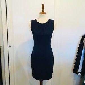 Tahari // Navy Blue Sheath Dress